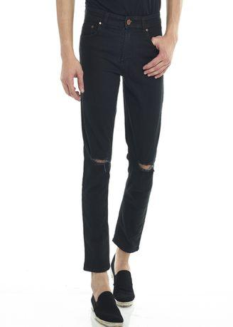 2Nd Red Ripped Jeans Slim Fit Premium Hitam 133240