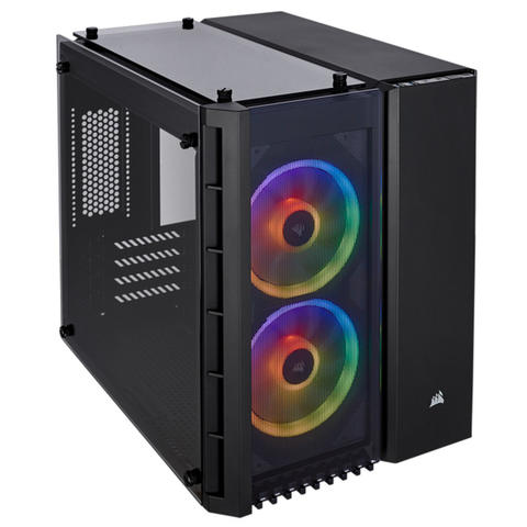 [JoJo CompTech] Corsair Crystal Series 280X RGB Tempered Glass Micro ATX Case - Black