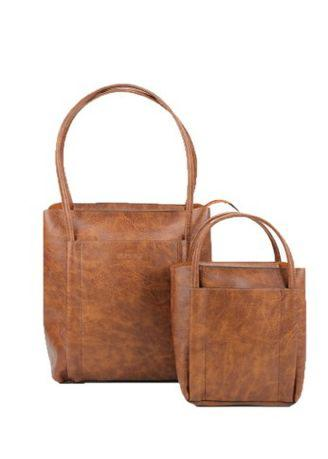 Delaine New Tote 2in1 Brown
