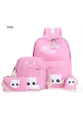 Ransel Catty White 4 in 1 Set