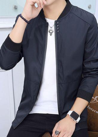 ALG-A33 Fashion Jackets Casual Men's Padded Zipper Bomber Jacket