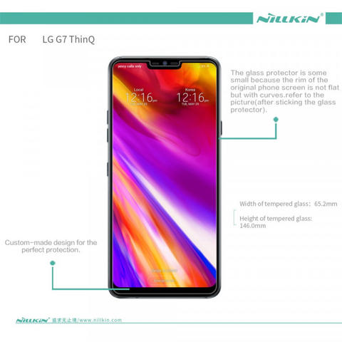 Anti Gores Tempered Glass LG G7 ThinQ 2018 - NILLKIN H Plus Pro Original