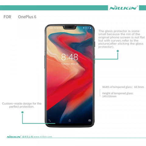 Anti Gores Tempered Glass Oneplus 6 / Oneplus Six - NILLKIN H Plus Pro Original