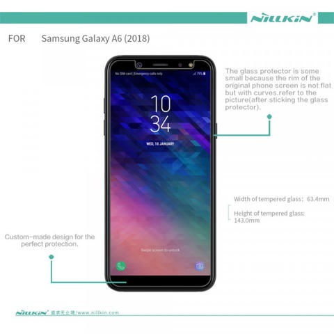 Anti Gores Tempered Glass Samsung Galaxy A6 2018 - NILLKIN H Plus Pro Original