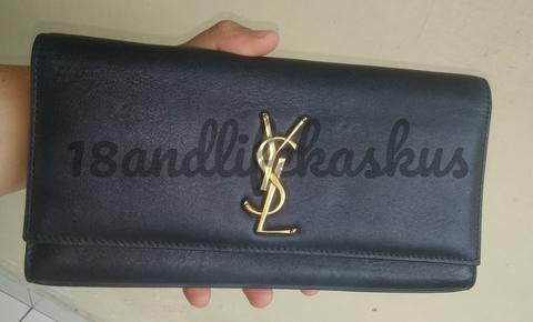 CLUTCH YVES SAINT LAUREN YSL CASSANDRE GENUINE LEATHER