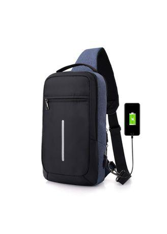 Crossbody Bag with USB Charging Port Anti-theft Chest Pack