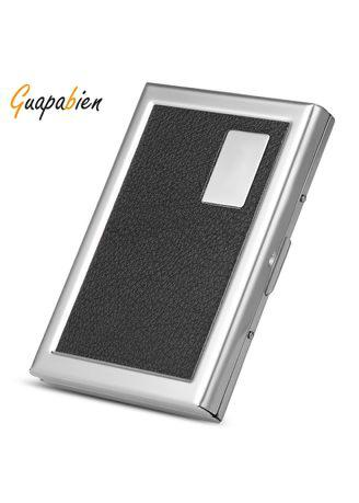 Guapabien Vintage Split Wallet Case Business Credit Card Holder