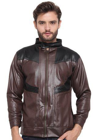 JAVA SEVEN Moraghi Man Jacket Brown​/​Black
