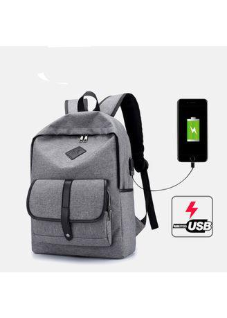 Korean USB Charging Backpack Student Large Capacity Canvas Waterproof Shoulder Bag