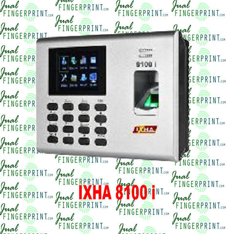 mesin absen IXHA-8100i (FP, Proxi, Access, TCP IP, Stand alone)