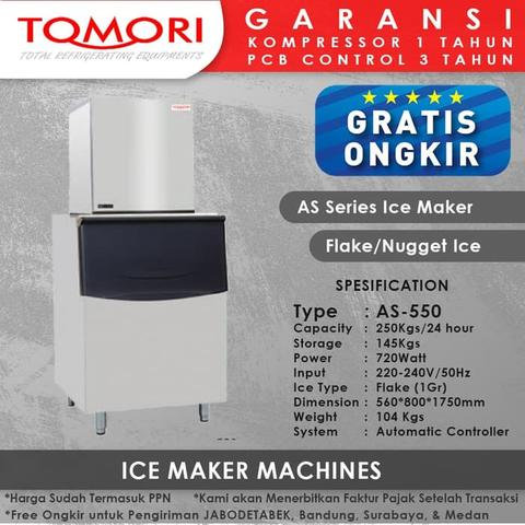 Mesin Pembuat Es Flake AS-550 TOMORI ICE FLAKE Maker