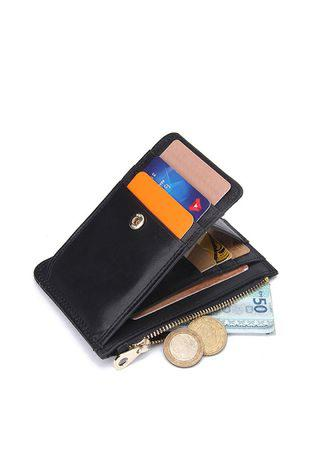 RFID Genuine Cow Leather Card Holder Wallet