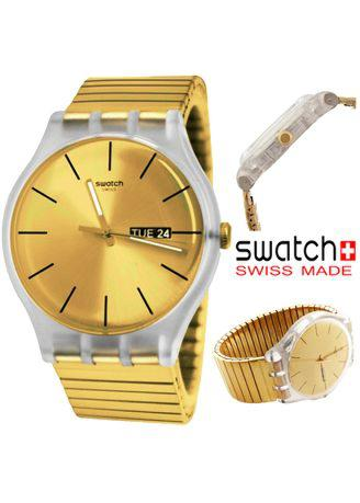 Swatch Original Day Date Pria SUOk702-1