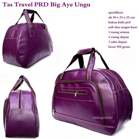 Tas Travel Besar Kulit Big Aye Best Seller Ungu