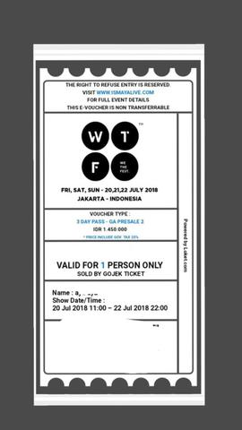 Tiket We The Fest 2018 3 DAY PASS