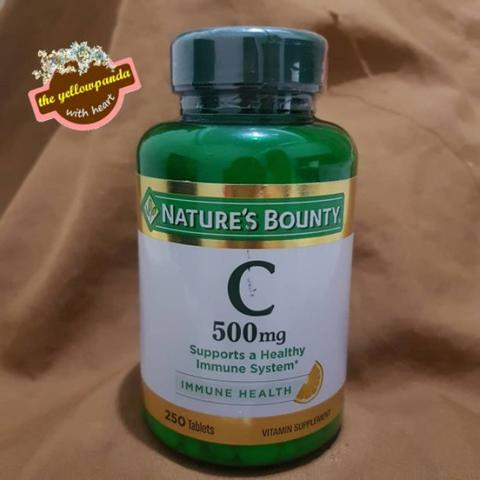 Nature's Bounty Vitamin C 500 mg 250 Tablets