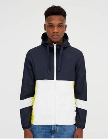 Pull and Bear Hooded Jacket with Slogan