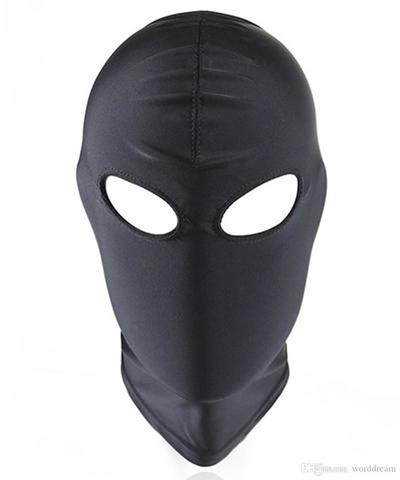 Topeng Mask Open eye & Closed Mouth Fetish BDSM Bondage Hood Spandex