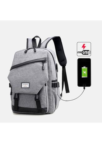 USB Charging Men Women Large Capacity Canvas Shoulder Waterproof Backpack