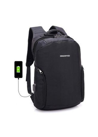 USB Interface Charging Password Lock Anti-Theft Backpack