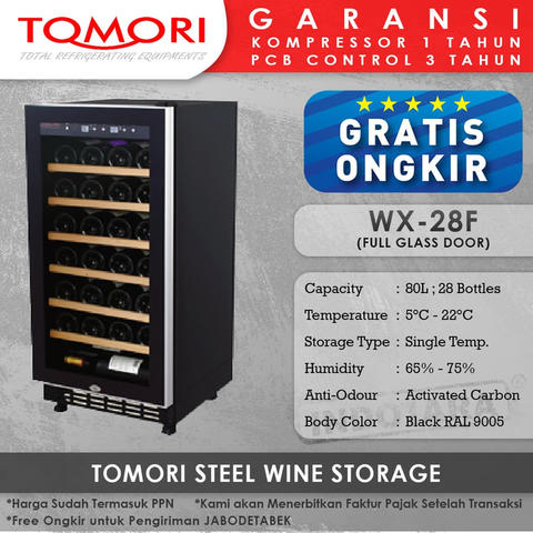 Wine Cooler | Tomori Wine Storage Steel WX-28F