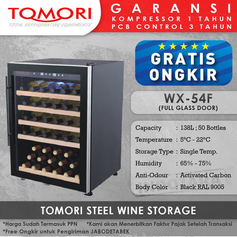 Wine Cooler | Tomori Wine Storage Steel WX-54F