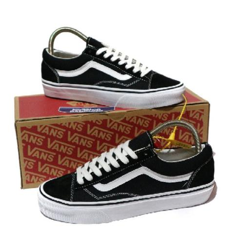 804e5fd668ad72 Vans Old Skool Style 36 Marhsmallow Black White Perfect Kick (Free tas  sepatu)