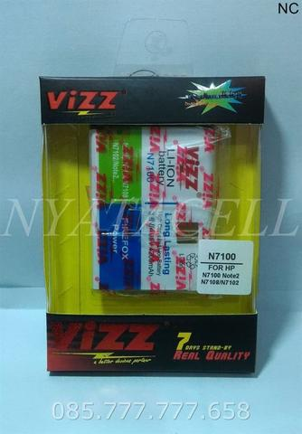 Baterai Vizz Samsung Galaxy Note 2 4200mAh Batre Double Power II N7100