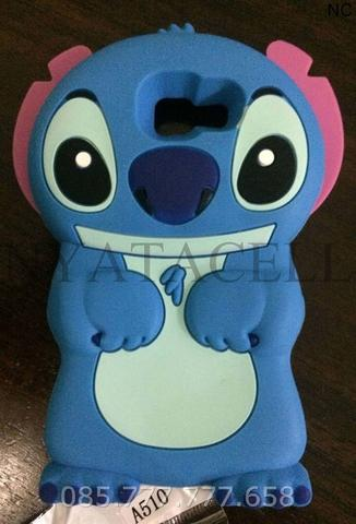 Case 4D Stitch Samsung A5 2016 A510/Karakter/Lilo/Ear/Softcase/Soft/3d