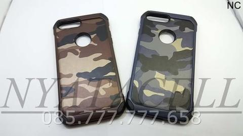 Case Army Iphone 7+ 7 Plus Soft+Hard Leather Armor/Kulit/Slim/Cover