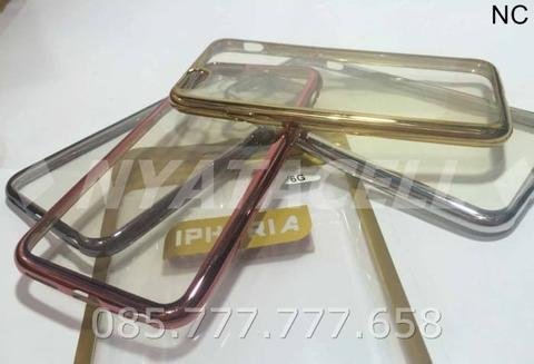 Case List Chrome iPhone 6 6G 6S 4.7/TPU/Softcase/Ultrathin/Plating