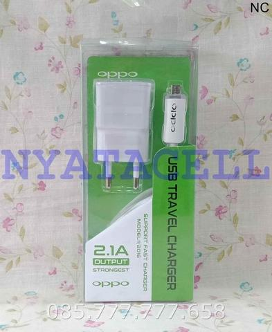 Charger Oppo LED Indikator 2.1A Original 99% (Battery/Fast/Hp/USB)