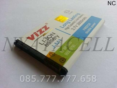 J-M1 2800mAh Batre/Baterai Vizz Double Power Blackberry JM1 Dakota