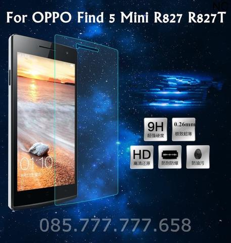Tempered Glass Oppo Find 5 Mini R827 Screen Protector Anti gores Kaca