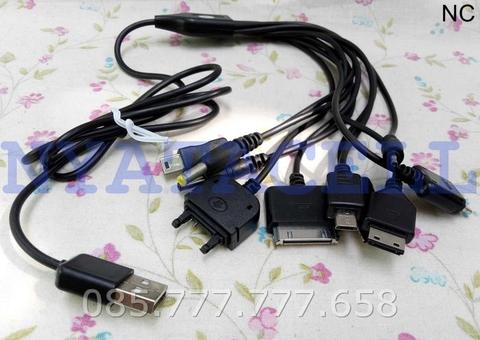 USB Kabel Data/Charger Cumi 10 In 1 Multi Function Charging - Hitam