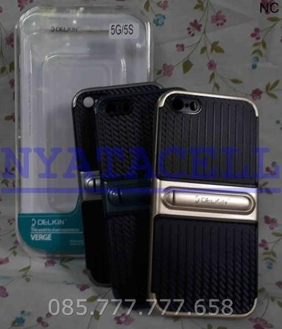 Case Delkin Verge Stand Iphone 5 - 5G 5S SE Classic Soft Carbon + Hard