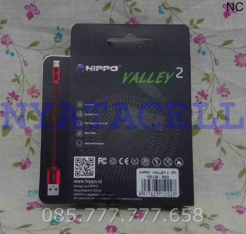 Kabel Data Hippo Valley 2 Iphone 5 6 7/Plus 100cm Fast Charging USB