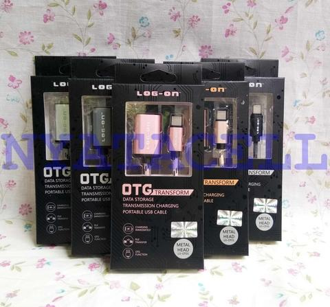 Kabel Data OTG Log-On LO-OT01 Type-C 2.0 USB Metal Head Cable Charger