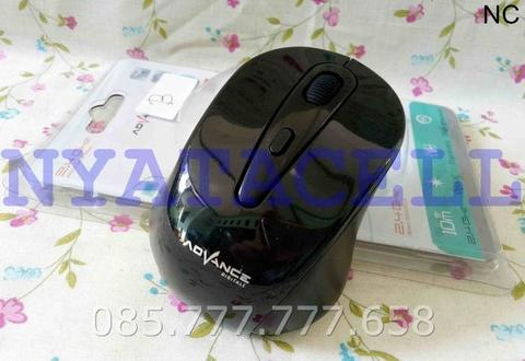 Mouse Wireless Advance WM 502 B Optical/USB For Laptop / Komputer Dll - Hitam
