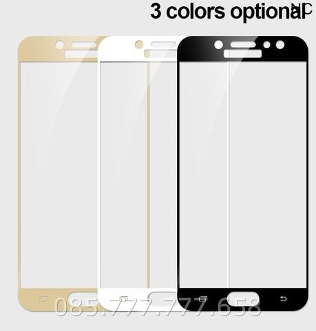 Tempered Glass Full 3D Samsung Galaxy J7 Pro Anti Gores Curved Warna