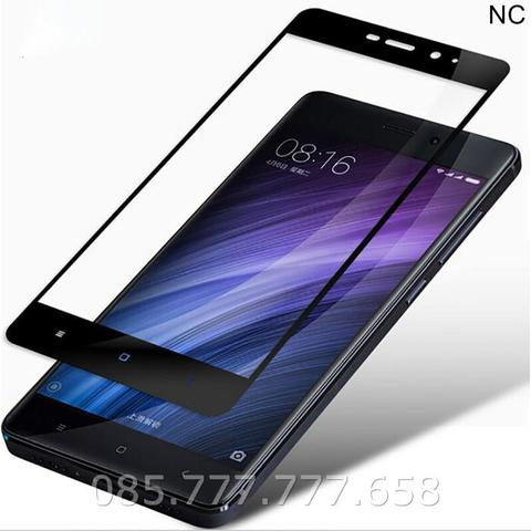 Tempered Glass Warna 3D Full Xiaomi Redmi 4/Pro (Anti Gores Kaca)