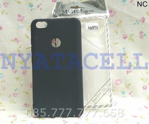 Case Matte Xiaomi Redmi Note 5A Pro Soft Black Anti Minyak Softcase