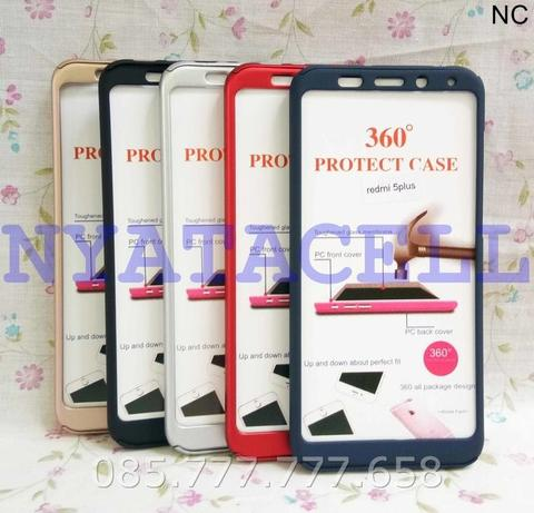 purchase cheap 4b62a 5c3b4 Case Protect 360 Xiaomi Redmi 5+ Plus Slim Hard/Ipaky/Full Body/Casing