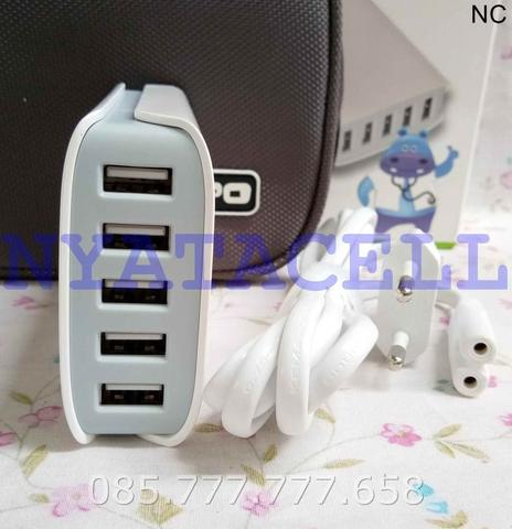 Charger Hippo Dimy 5 Port USB 6A /Adaptor/Adapter/Batok (Simple Pack)