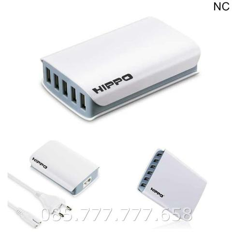 Charger Hippo Dimy 5 Port USB 6A/Smart IC Travel Adaptor (Simple Pack)
