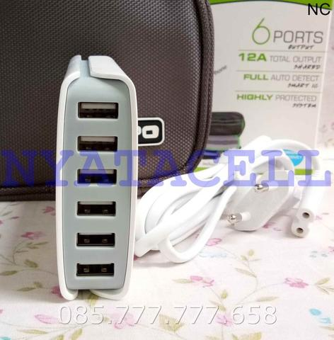 Charger Hippo Enina 6 Port USB /Smart IC Travel Adaptor (Simple Pack)