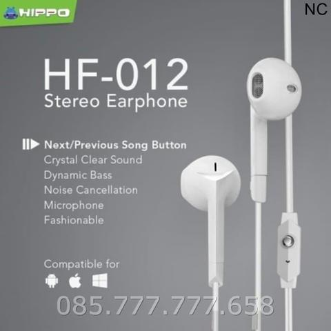 Headset Hippo HF-012 Original Handsfree Stereo Earphone Ori Bass