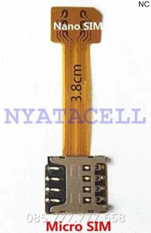 Hybrid Dual Sim Extension Nano to Micro Card Adapter MicroSD Converter