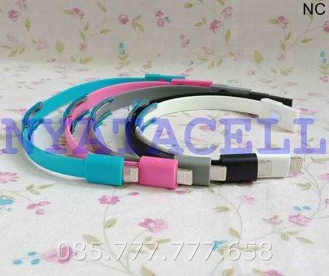 Kabel Data Gelang Iphone 5 6 /Cable USB Charge Powerbank