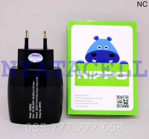 Kepala Charger Hippo Nero 3 3 Port USB 3.8A/LED/Adapter/Adaptor - Hitam